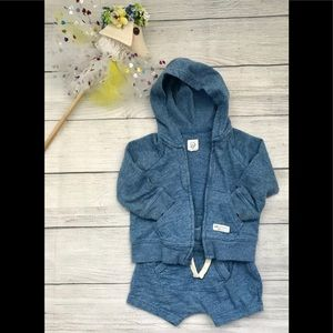 Gap Baby hoodie and short outfit